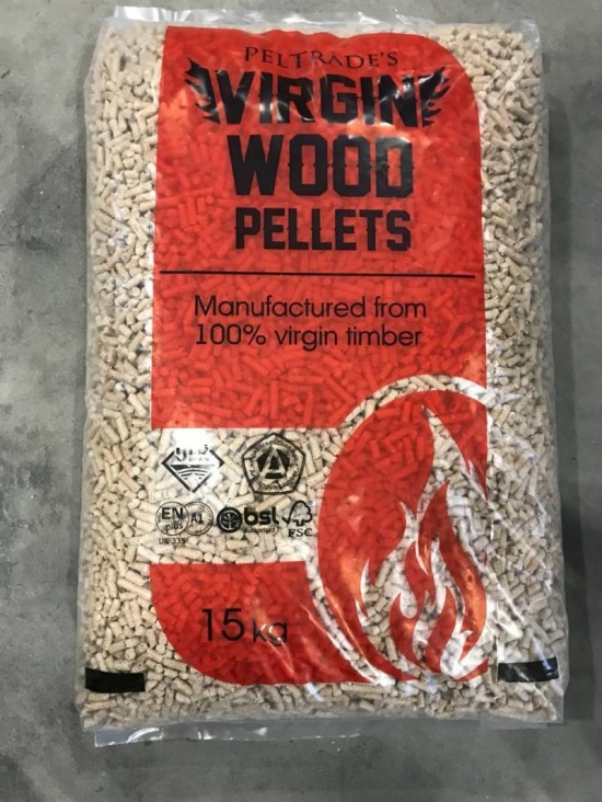 Virgin 3/4 Pallet (48 x 15kg Bags) Wood Pellets Image