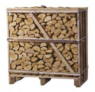 Large 1.2m3 Crate Oak (Tightly Stacked) Image